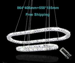 modern led chandeliers modern crystal chandelier led pendant lamp 864 408mm 558