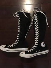 converse knee high boots. converse all star xxhi black knee high boots, lace up, mens 8 womens 10, euc converse boots o