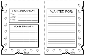 Book Report Poster Template Wanted Poster Book Report Project Templates Worksheets