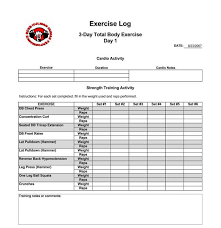 Daily Exercise Log Daily Exercise And Running Log Templates Download In Excel And Pdf