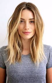 Coupe Cheveux Mi Long Blond Lisse