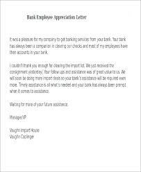 Appreciation Letter Employees Writing A Of An Employee Bank