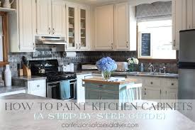 Average Cost To Paint Kitchen Cabinets Impressive How To Paint Kitchen Cabinets A StepbyStep Guide
