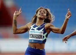 Sprintster Sha'Carri Richardson ...