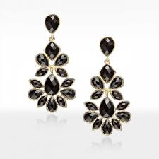 silver beaded chandelier earrings gold resin geometric black