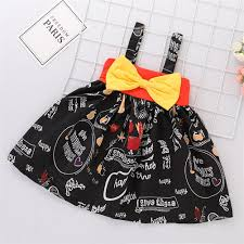Baby Frock Design 2018 Cutting Us 6 54 30 Off Baby Dress 2018 Halloween Pumpkin Summer Princess Square Cut Cotton Female Baby Clothes Childrens Bow Black Sleeveless Dress In