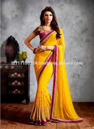 Surat Designer Sarees Online Saree Bulk Manufactures In Surat India Saree Design Saree New Fashionable Stylish Yellow Color Saree Buy Saree Bulk 6714 Latest Online