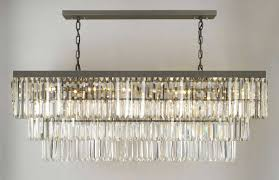 g902 1156 12 gallery closeout retro odeon glass fringe rectangular chandelier chandeliers lighting
