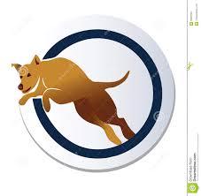 Jumping Dog Design Dog Jumping Over Hoop Logo Stock Vector Illustration Of