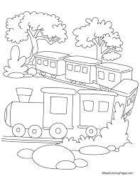 Small Picture Train in jungle coloring page Download Free Train in jungle