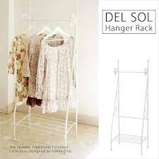 spanish like stylish white ds hs3225s wh of princess of storing living steel iron taste princess belonging to hanger rack rack coat hanger shelf line