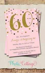 60th Birthday Invitation Template Formatted Templates Example