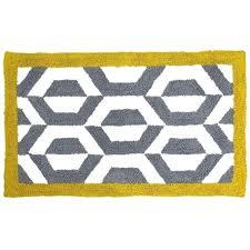 yellow and gray bathroom rug grey rugs bath from chevron