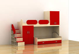 Modern Multifunctional Bedroom Furniture Consisting Of Two Bed And Wardrobe  Bedroom