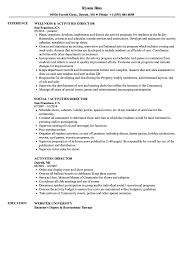 Director Resume Sample Activities Director Resume Samples Velvet Jobs 23