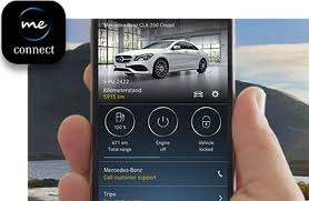 the mercedes me connect app