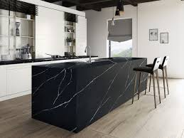modern kitchen designs with beautiful black quartz countertops