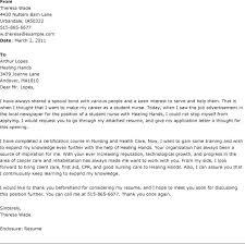 Student Nurse Resume Cover Letter Cover Letter For Student Nurses