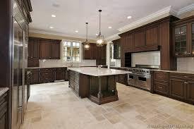 luxury dark walnut colored kitchen