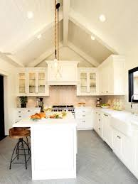 Kitchen With Vaulted Ceilings White Farmhouse Kitchen Christopher Grubb Hgtv