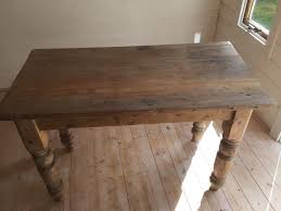 Lovely Old Pine Plank Kitchen Side Table Small Desk In Barnstaple