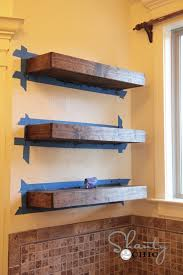 charming making floating shelf easy d i y tutorial free plan from solid wood in alcove no