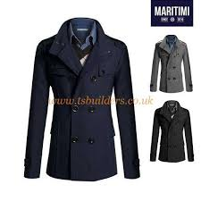 high collar pea coat men clothing 8ay1169 popularity best 40 wool 60 polyester jackets