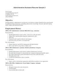 Resume Objective Examples For Administrative Assistant Resume