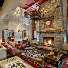 Southwestern Living Room Furniture Living Room Design With Stone Fireplace Small Kitchen Baby