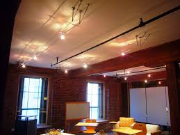 drop ceiling track lighting installation. image of: cable suspended track lighting drop ceiling installation