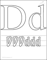 Kleurplaat Tekens Letters Kleurplaat Letter D