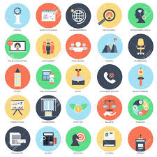 Professional Skill Set Flat Conceptual Icon Set Of Corporate Management And Business