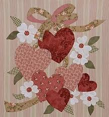 52 best Quilt harte / Quilted hearts images on Pinterest ... & Hearts for Valentine, designed for quilting applique but would look great  in wool. Applique Quilt PatternsApplique ... Adamdwight.com