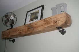 industrial pipe shelf brackets pack for metal wall bookshelf your diy shelves home kitchen queen mattress