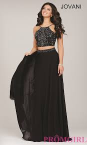 Two Piece Beaded Top Jovani Prom Dress Promgirl