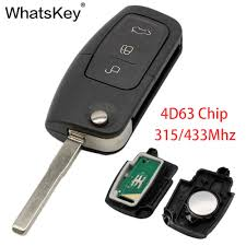 <b>WhatsKey</b> 3 <b>Button</b> Folding Key <b>Flip</b> Remote Key Shell Fob Case ...