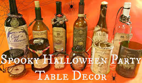 Party Table Decor Spooky Halloween Party Table Decor Redo It Yourself Inspirations