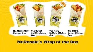 Mcdonalds Uk Nutrition Chart Mcdonalds Wrap Of The Day Different Flavours In Grilled