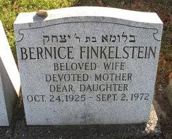 Bernice Jackelow Finkelstein (1925-1972) - Find A Grave Memorial