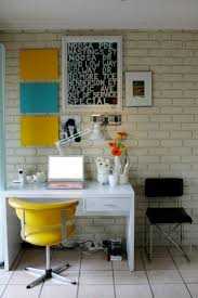 Framed Brick Wall Office