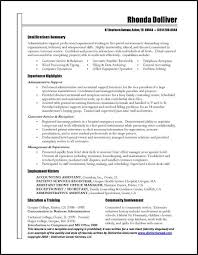 Administrative Assistant Skills Resume Sample Resume Administrative Under Fontanacountryinn Com