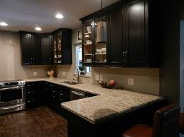Brown Laminated Wooden L Shaped Cabinet Dark Brown Cherry Wood - Dark brown kitchen cabinets