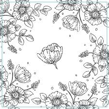 Floral Coloring Pages Free Printable Vintage To Print Also Download