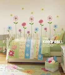 Daisy Garden Flowers Wall decal, Pottery Barn , Nursery, bedroom, Baby, Girl