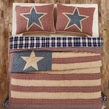 Victorian Heart Plaid Quilts | eBay & King Quilt Set Patchwork Patriotic American Flag Star Plaid Independence  Cotton Adamdwight.com