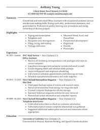 Resume For Office Assistant Extraordinary Resume Office Assistant New Administrative Assistant Resume Example