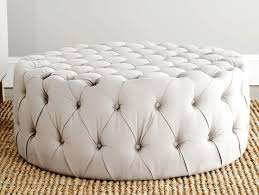 round tufted leather ottoman coffee table what fabric can do modern w