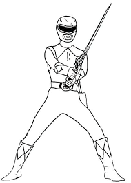 Mighty Morphin Power Rangers Printable Coloring Pages