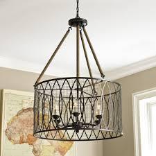 denley 6 light pendant chandelier