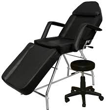 massage chair bed. black facial bed with stool fb-51blk massage chair